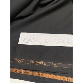 Шерстяная костюмная ткань, чёрная 3D wool