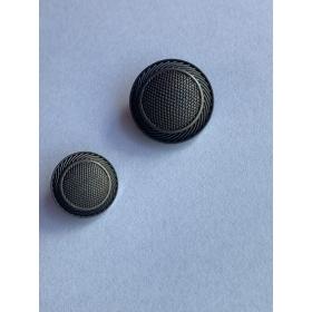 Пуговица серебряная, 15 мм